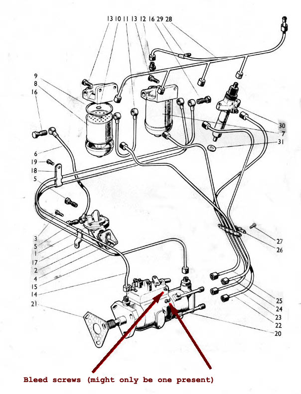 tractor fuel injector diagram